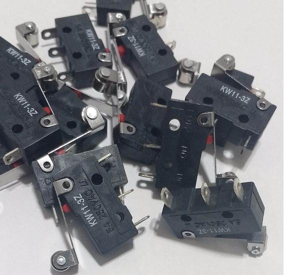 Chave Microswitch C/roldana 17mm(kw11-3z) 5amp=1,50