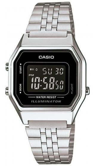 Relógio Casio La680wa-1bdf Prata Digital Retrô - Refinado