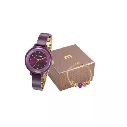 Kit Relógio Mondaine Feminino Com Pulseira 76709lpmvdy2k1