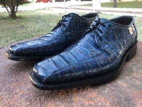 Zapato Estilo Louis Vuitton, Piel De Cocodrilo Original