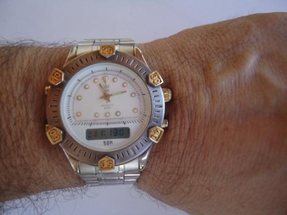 Relógio Dumont Análogo Digital Cronógrafo Semi Novo