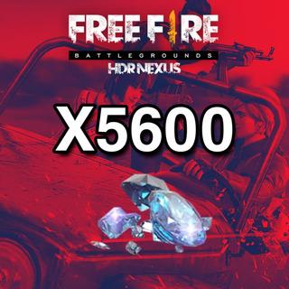 5600 Diamantes Free Fire