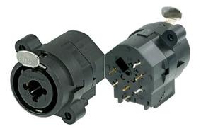 Kit 6 Conector Neutrik Ncj6fiv Combo Xlr Femea- P10 Stereo