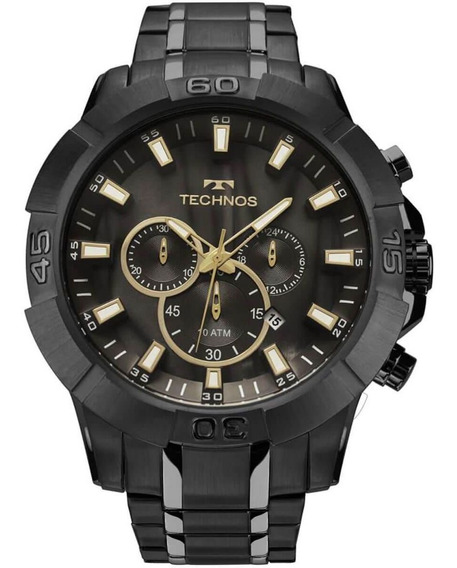 Relógio Technos Js26ag/4p Legacy Big Case Black Cronógrafo