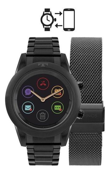 Relógio Technos Feminino Connect Duo P01ad/4p Preto Full Dis