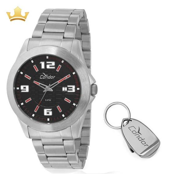 Kit Relógio Condor Masculino Co2115ty/k3r Com Nf