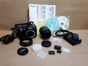 Câmera Digital Dslr Nikon D3100+fleche Externo+tripé
