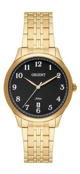 Relógio Orient Feminino Dourado Fundo Preto 34825