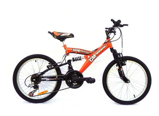 Bicicleta Gm 16335 Mountain Bike Rodado 20 Doble Suspension