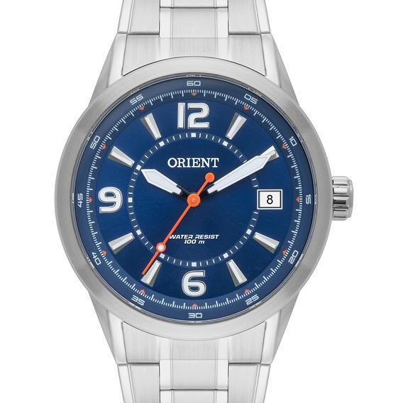 Relógio Orient Masculino Prateado Mbss1269 D2sx + Nota
