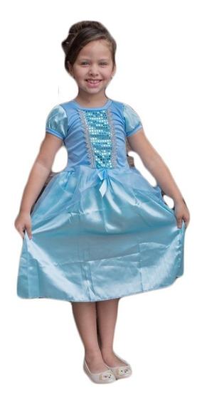 Fantasia Princesa Cinderela Infantil Princesas Disney