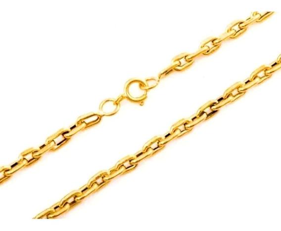 Corrente Masculina Ouro 18k Elo Cadeado Cartier 10g 60cm Oca + Porta Joias 0018