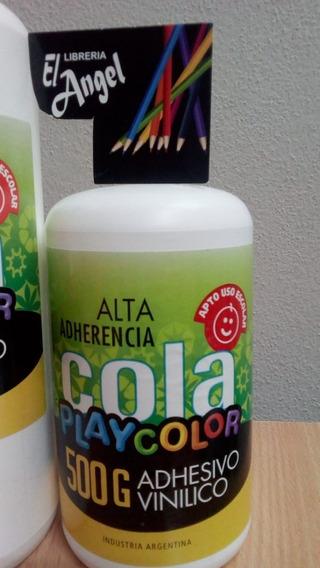 Adhesivo Vinilico Play Color X 500 Grs.