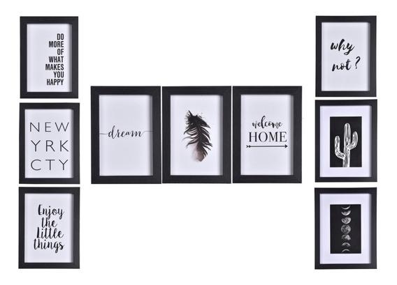 Portaretratos Cuadros Modernos Decorativos Set X 9 Begônia