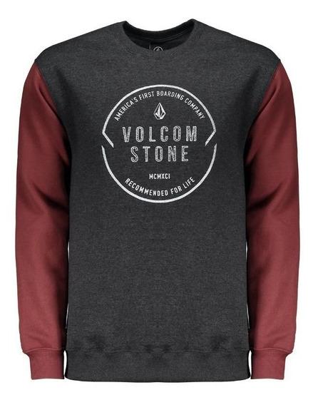 Moletom Volcom Stone Company Grafite E Vinho