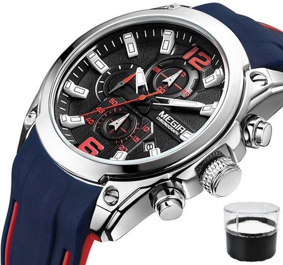 Relógio Original Megir Modelo 2063 Com Cronógrafo