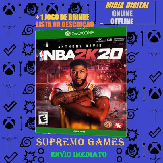 Nba 2k20 Xbox One Midia Digital Nba2k20 2020 Original+brinde