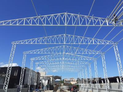 Estrutura Metálico-cobertura C/telha & Instalação (metro²)