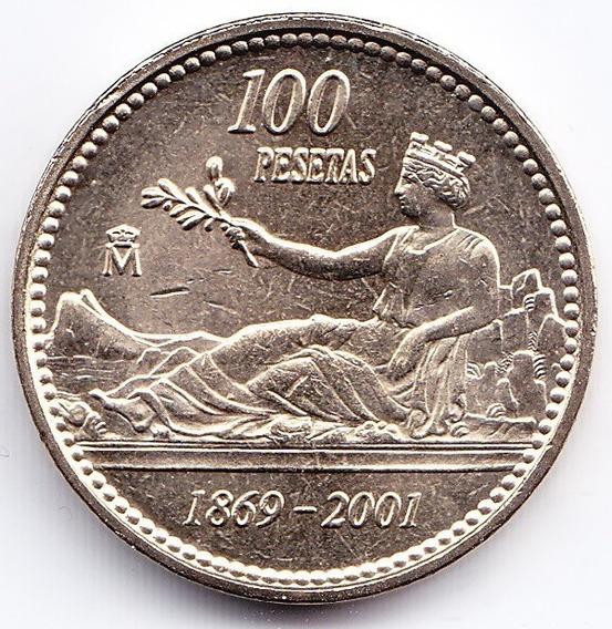 España 100 Pesetas 2001 Peseta Española 2001 - 1869 Km 1016