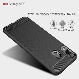 Funda Samsung M20 Carbono Anti Golpes + Vidrio Templado