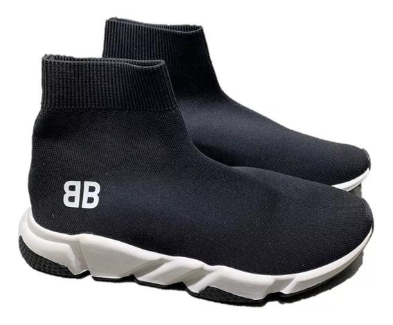 Tenis Balenciaga Botín Black B B, Envío Gratis