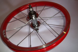 Roda De Aluminio Para Bike Aro 16 Vermelho Traseira