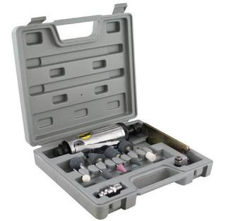 Mini Retífica E Esmeril Pneumático C/ Maleta E Kit Eda-8nj