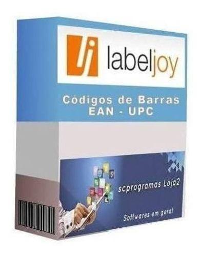 Gerador De Códigos De Barras Labeljoy 6 Nova Versão -ean U