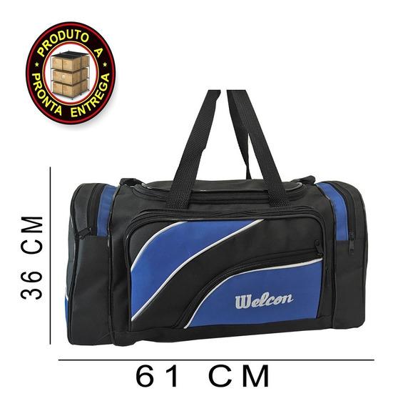 Bolsa De Viagem Grande Sacola Resistente Welcon Modelo Wave