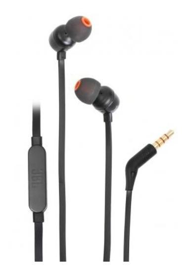 Fone De Ouvido Jbl Intra-auricular - Com Microfone Preto
