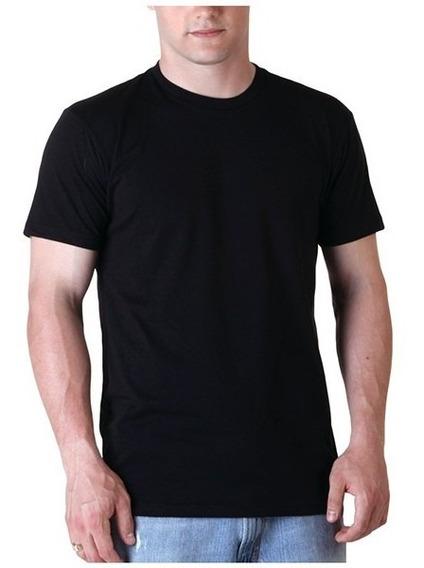 10 Camisetas Pretas 100% Algodão Fio 30 Penteado