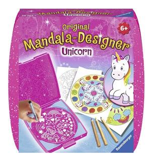 Ravensburger Mini Mandala Designer® Unicornio Portátil Viaje
