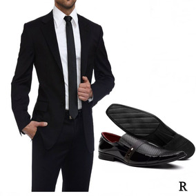 Terno Slim Fit Masculino Completo - Com Camisa Slim E Sapato