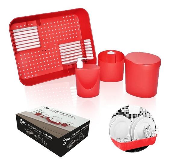 Kit Organizador De Pia Coza 4 Pçs C/ Escorredor 99256 Brinox