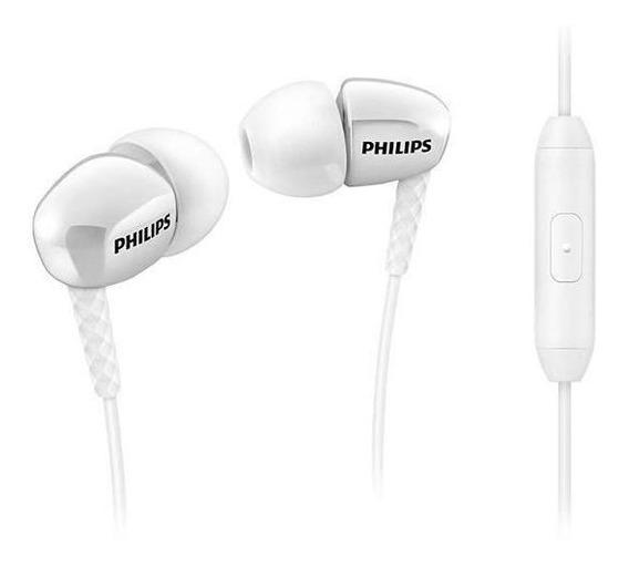 Fone De Ouvido Philips C/ Microfone She3905wt Branco