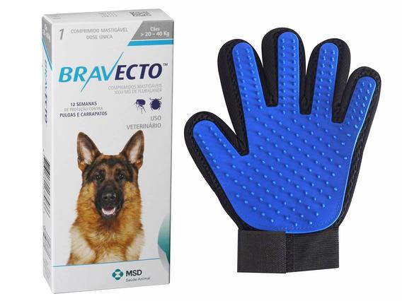 Antipulgas Bravecto Cães 20 A 40kg + Brinde Luva
