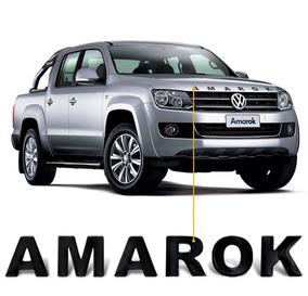 Adesivo Frontal Capo Amarok 2016 2017 2018 Preto Resinado