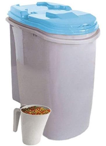 Imagem 1 de 6 de Porta Ração Dispenser Home Plast Pet 25l Com Concha Medidora