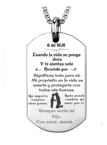 Mensaje A Mi Hijo Personalizado Con Nombre + Cadena/llavero
