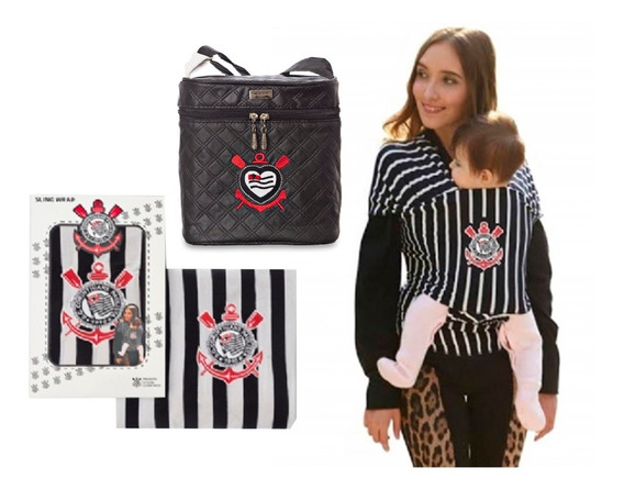 Kit I Presente Maternidade Corinthians Sling E Frasqueira