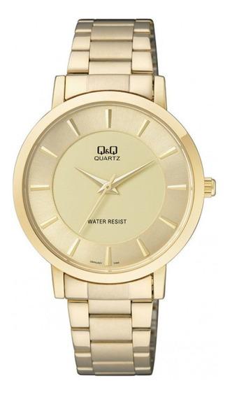 Relógio Q&q Feminino Ref: Q944j001y Casual Dourado