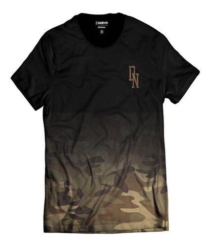 Imagem 1 de 2 de Camiseta Camuflada Marrom Street Wear Di Nuevo Dn Degradê