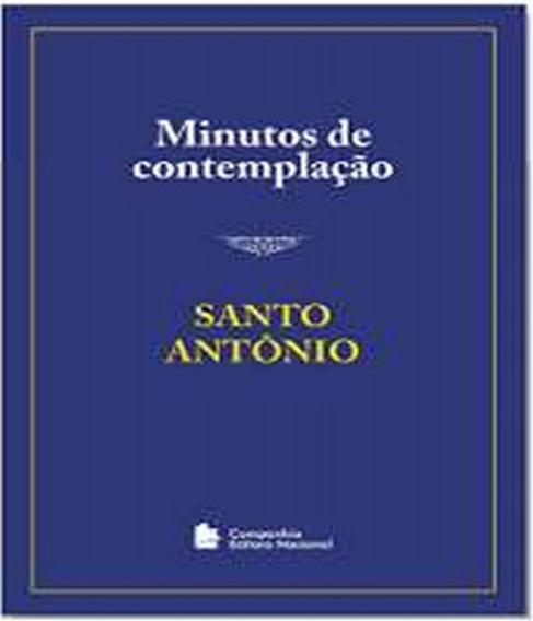 Livro Minutos De Contemplacao - Santo Antonio