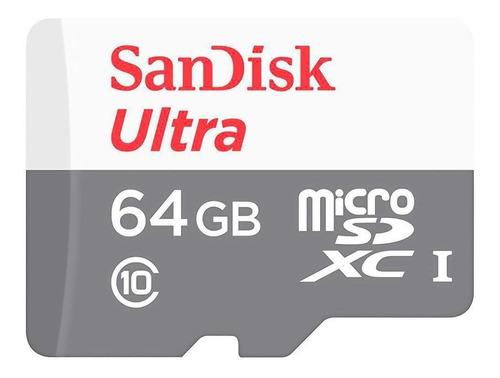Imagem 1 de 2 de Cartão De Memória Sandisk Microsd Ultra Sdxc Uhs-i 64gb
