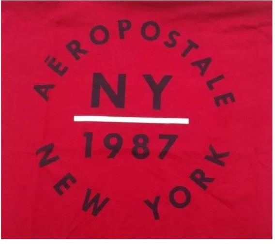 Combo Com 2(duas) Camisas Aéropostale Masculina Vermelha