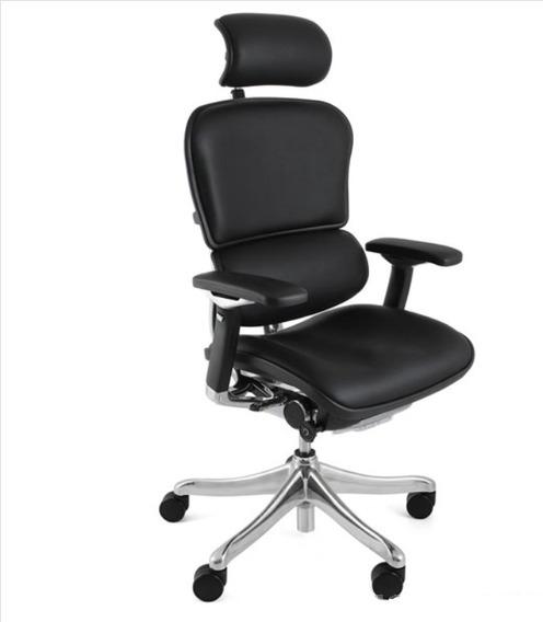 Cadeira Ergonômica Ergoman Luxury Couro (black)