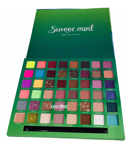 Paleta Sombras Jasmyne  Sweet Mint 47 Cores 1 Primer Js07013