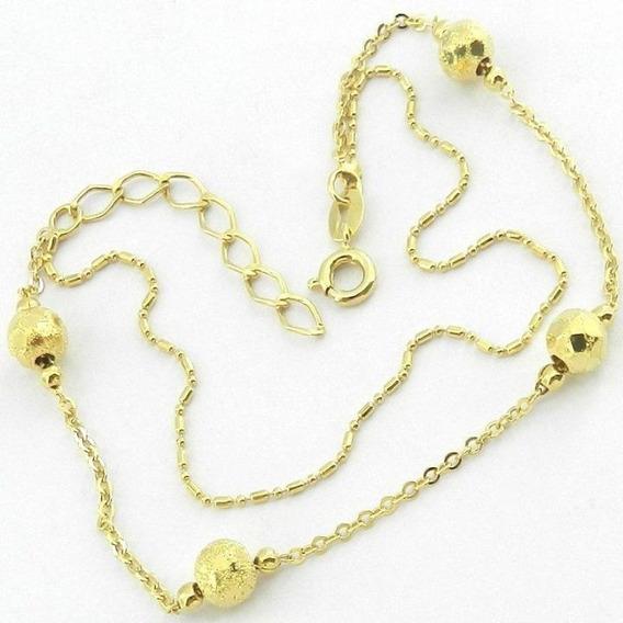 Pulseira Feminina 18/22cm Folheada Ouro Pl431