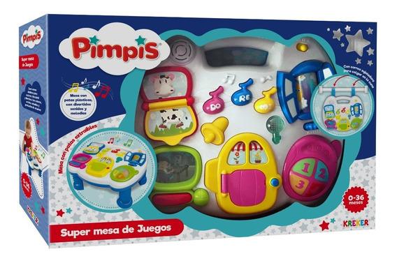 Mesita Multifuncional P/bebes Con Luz, Sonido Kreker Pimpis