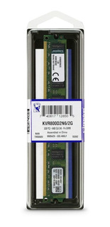 Memoria RAM 2 GB 1x2GB Kingston KVR800D2N6/2G